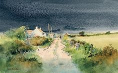 David Bellamy uses Daniel Smith Watercolours to paint 'Farm Near Porthclais' step-by-step
