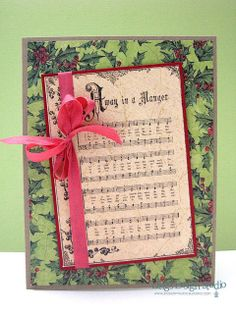 Christmas music card, simple but nicely done.