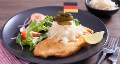 Dig into this tasty German-inspired Potato Crumbed Chicken Schnitzel!  #chickenschnitzel #oktoberfest #recipe
