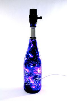 Lighted Wine Bottle Lamp LED 4 Option Blue