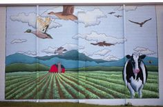 Mural on the Cheese Plant building, West Jefferson, NC