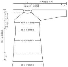 """Vestido DROPS en punto musgo con resorte y raglán, tejido de arriba para abajo, en """"Karisma"""". Talla: S – XXXL. Patrón gratuito de DROPS Design."""