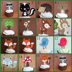 Hey, I found this really awesome Etsy listing at http://www.etsy.com/listing/168773739/woodland-creatures-party-cupcake-toppers