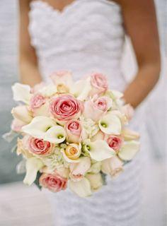 Pastel Bridal Bouquet | The City Florist | Jordan Brian Photography | TheKnot.com