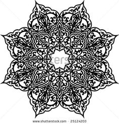 Vector illustration of Arabic geometric ornament - stock vector