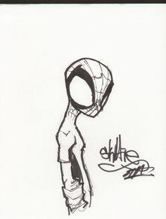 Skottie Young Spiderman Comic Art