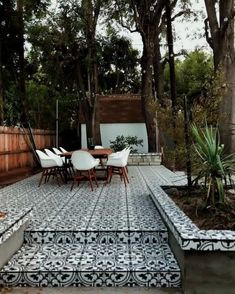 We can't get enough of SIVAN AYLA's black + white tiled patio 😍 Our porcelain Artea Tiles have the best moisture-absorption rating, so they're safe to use outdoors without worrying about damage from water (or wine or apple juice…) Tap to shop! Porch Tile, Patio Tiles, Outdoor Tiles Patio, Balcony Tiles, Outdoor Patio Flooring Ideas, Terrace Tiles, Outdoor Rooms, Outdoor Living, Cement Patio