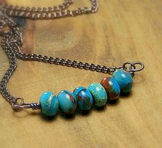 Peruvian Opal Color Ocean Jasper Beads with by AllowingArtDesigns, $16.00