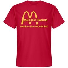 McGraduate Senior Funny Custom T-Shirt for college graduation gifts. Customize and change the name of the major to match that of the recipient.