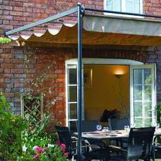 x FT x Retractable Metal Garden Pergola Canopy Patio Awning - Westmount Living