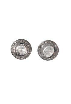 The Woods Large Diamond Stud Earrings at ShopGoldyn.com