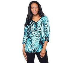 Pin to Win #SusanGraver Sweepstakes! {Liquid Knit Animal Print Tunic with Sparkles} Enter here: http://sweeps.pinfluencer.com/QVC