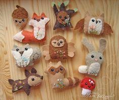 Cute felt animals