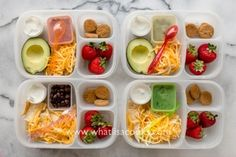 A fun way to send nachos for lunch: Deconstructed!
