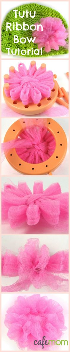 Click for step-by-step instructions. These bows can be put on hats, headbands, shirts or  used as hairbows - so cute!
