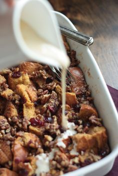 Cranberry Bread Pudd