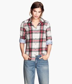 H&M Plaid Flannel Shirt $29.95 - finally found a flannel shirt I love for the fall/winter