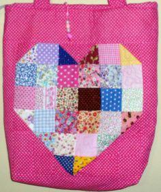 Bolsa em patchwork. Eliane David.
