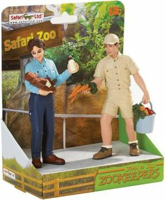 "Safari LTD Safari Land John and Jill Zookeepers on platform by Safari. $13.19. Safari Ltd takes pride in providing breathtaking, innovative and value priced figures for now over three generations. Each replica is finely hand painted and accurate down to the last detail. Educational information in five languages is included with each replica. Featured are our safari land john & jill zookeepers on platform. Replica size: 1.5"" l x 3.75"" h (4 x 9.5 cm). Suggested ag..."