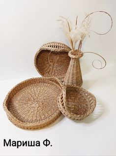 Плетение из газет Wicker Tray, Wicker Baskets, Photo Wall, Weaving, Home Decor, Photograph, Decoration Home, Room Decor, Loom Weaving