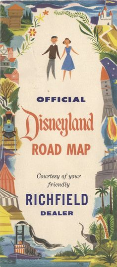 vintage Disneyland road map