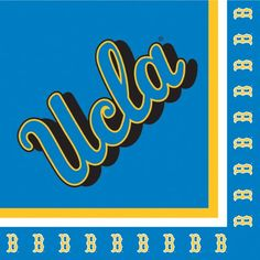 "Creative Converting UCLA Bruins Luncheon Napkins (20 Count) $4.48 Collegiate NCAA team logo luncheon napkins Measures 6.5 x 6.5"" 20 count The perfect supplies for your tailgating, Bowl game or sports themed party - show your team spirit and pride See Creative Converting's coordinating line of party favors and dinnerware - inflatable fingers, wrist bands, head bands, pom poms, cheer sticks, cups, plates, napkins, chip trays and dcor"