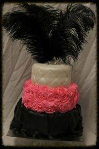 Three Tiered 21st Birthday Cake
