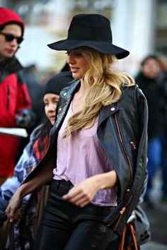 runwayandbeauty:  Candice Swanepoel after Disegual, New York, February 2014 Source: modelsjam