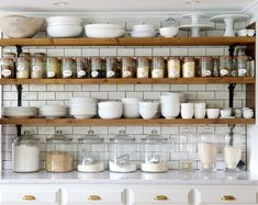 10 Tips on How to Build the Ultimate Farmhouse Kitchen Design Ideas Love the ideas! Check the website for more farmhouse kitchen design. 🙂 Source by Swanfebvre Kitchen Decor, Kitchen Inspirations, New Kitchen, Kitchen Shelves, Home Kitchens, Kitchen Design, Kitchen Remodel, Open Kitchen Shelves, Rustic Kitchen