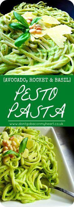 Avocado, Rocket and Basil Pesto Pasta