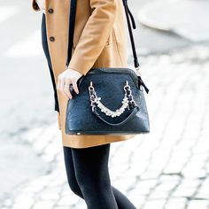 Camilla Pearl Dome Satchel   charming charlie   style blogger blue eyed finch   #handbags #purse #affordable #fashion #inspiration #streetstyle #nyc