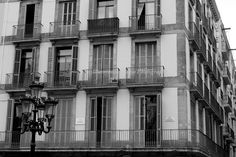 Las Ramblas Market Square - Signed 20 x 30 Black and White Fine Art Photograph Poster with FREE Shipping, Barcelona, Spain, Black and White. $79.00, via Etsy.