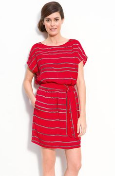 Bright and stripes! DKNYC Short Sleeve Stripe Dress