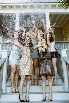 Glitter Bachelorette Party via Paige Winn Photo