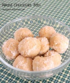 Almond Cheesecake Bites - low carb snack