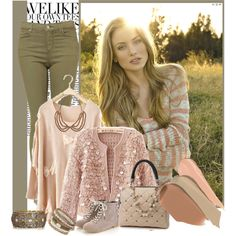 Pretty! Love the pink and the pants with the pink.