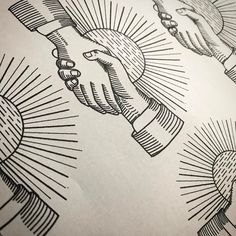 Getting ready :) #stencil #tattoo #tattoovalencia #tattooluxembourg #traditional #traditionaltattoo #handshake #lines #blackwork #ink