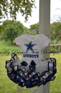 Dallas Cowboys Tutu, Cowboys Tutu, Girls Ribbon Tutu, Football Tutus