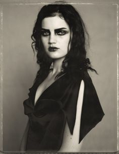I wan to believe that I can pull off dramatic make up...Guinevere Van Seenus by Paolo Roversi, 1996