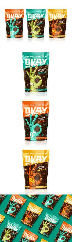 Okay Coffee Will Have You Feeling Ready To Take on the Monday — The Dieline | Packaging & Branding Design & Innovation News
