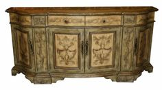 Decorative painted sideboard.