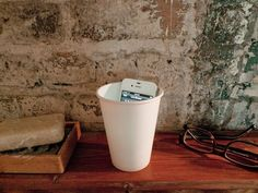 Protip: paper cup = instant iPhone amplifier.