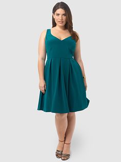 V Neck Fit Amp Flare Dress What To Wear Pinterest