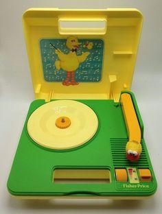 Sesame Street Big Bird Fisher Price Record Player 1983 Battery Phonograph 33 45  #FisherPrice