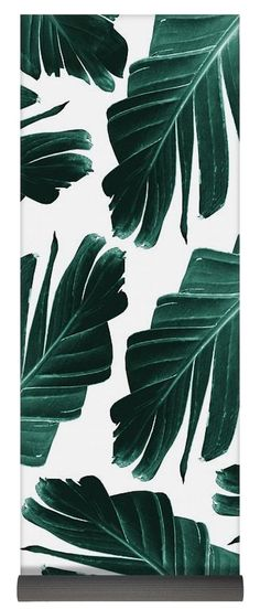 Tropical Banana Leaves Dream Yoga Mat by Anitas and Bellas Art. This yoga mat is x in size and made from natural rubber with a blended microfiber top surface. The mat includes money-back guarantee. Leaves Wallpaper Iphone, Cute Wallpaper Backgrounds, Cute Wallpapers, Tropical Background, Beach Background, Tropical Art, Tropical Leaves, Yoga Mats For Sale, Drawing Wallpaper