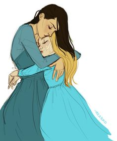 Evangeline and Lysandra by meabhd. Empire of Storms. Sarah J. Maas.