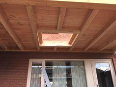 Overkapping met lichtkoepel - Overkapping Specialist Brabant Windows, Chop Saw, Terrace, Flat Roof, Window, Ramen