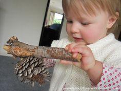 Natural Toys for Babies - Discovering Pinecones: Reggio Emilia - Sensory Development