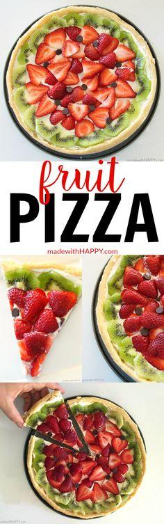 Fruit Pizzas   Watermelon Shaped Desserts   Summer Desserts   Cookie Pizzas   Watermelon Dessert   www.madewithhappy.com