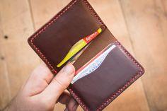 Tan 4 Card Bifold Leather Wallet